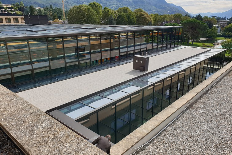 Glasdach Therme Meran