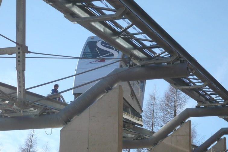 Schrägaufzug Innerwald Shuttle