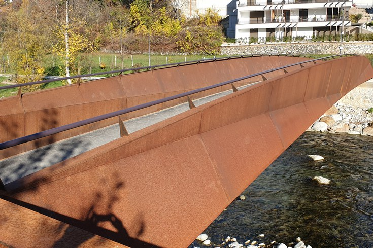 Radwegbrücke Zinggen – Brixen